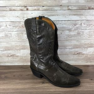 Justin Women's Boots Leather Brown